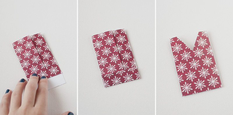 Cut your holiday paper into 5×4.25″ sized sheets.
