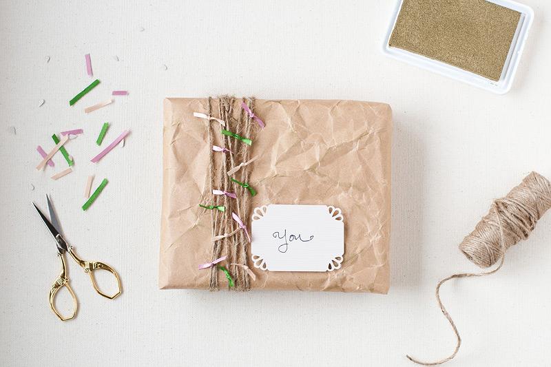 Gift Wrap: Crumpled Kraft | Anastasia Marie
