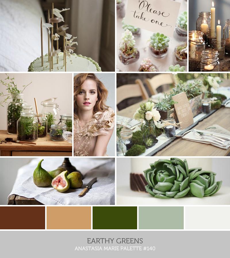 earthy greens // anastasia marie palette