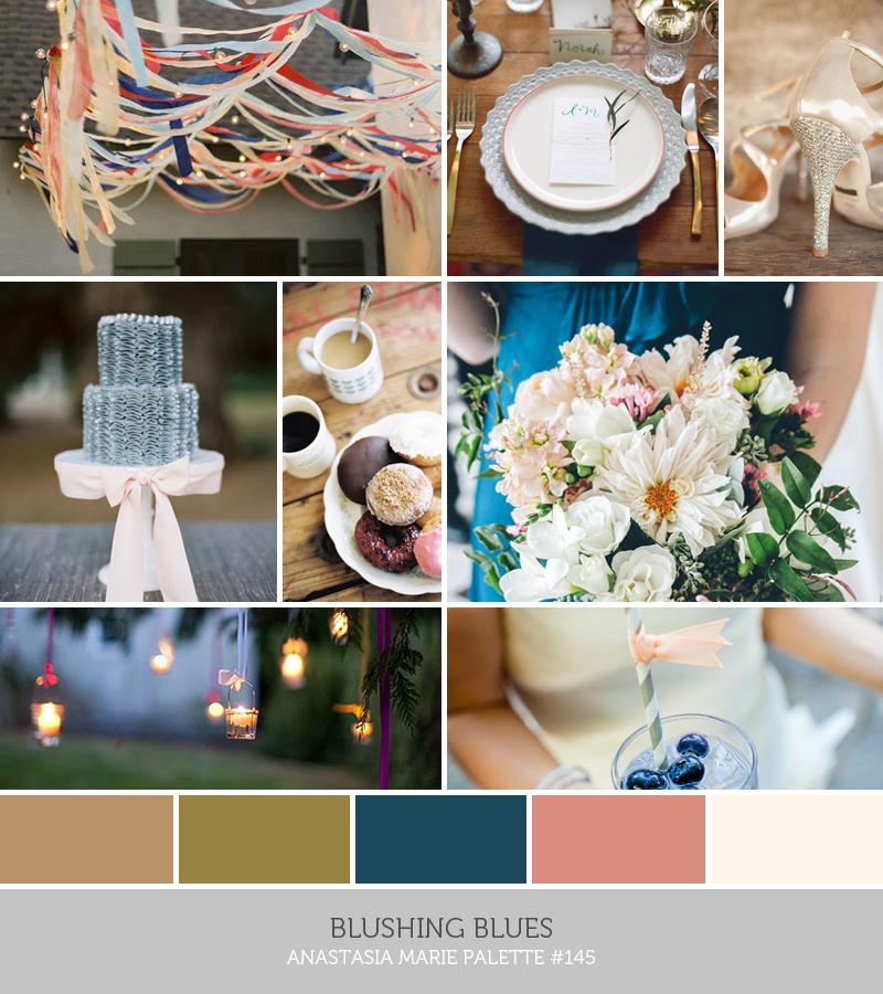 blushing blues // anastasia marie palette