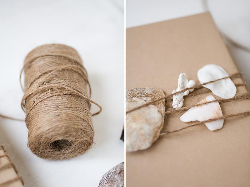 gift wrap: seashells #anastasiamariecards