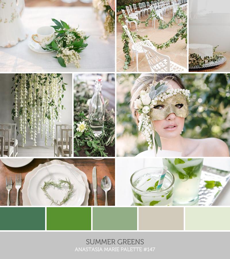 summer greens // anastasia marie palette