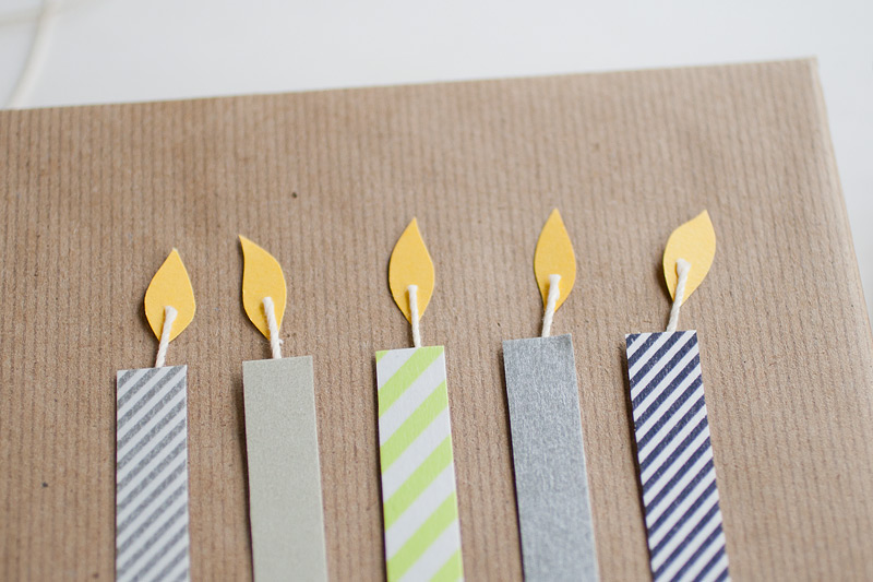 washi birthday candles // gift wrap #anastasiamariecards