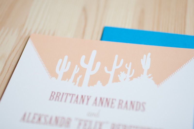 desert cactus wedding invitations // #anastasiamariecards