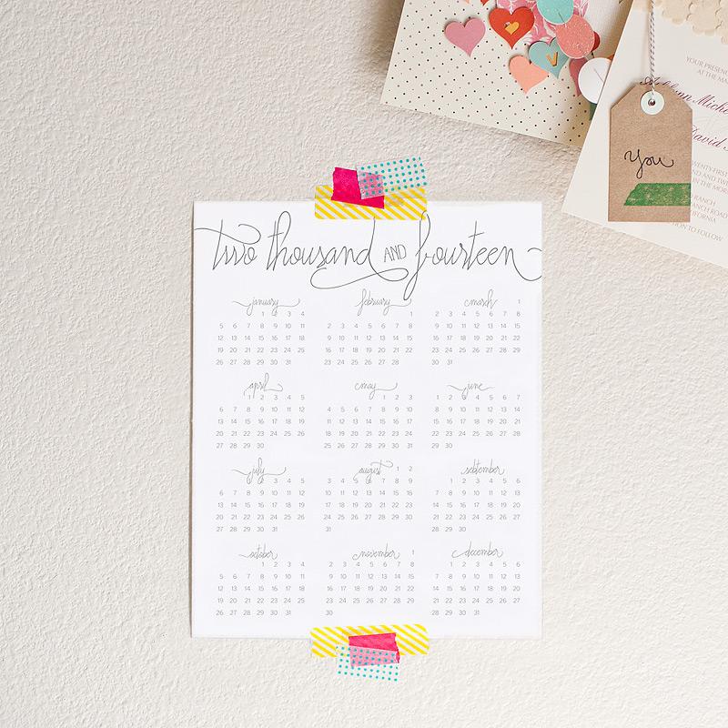 2014 wall calendar #anastasiamariecards