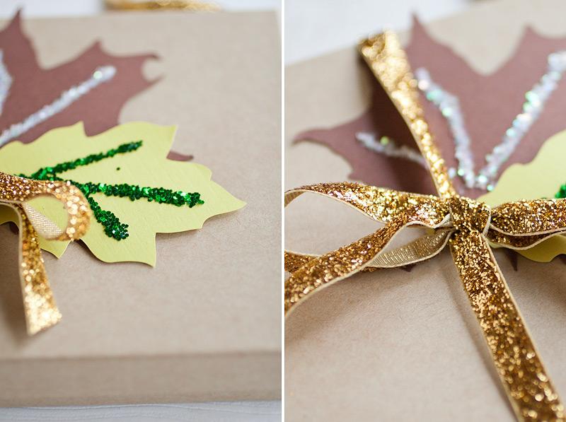 autumn sparkle // gift wrap #anastasiamariecards