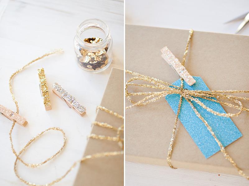 glitter gift tag wrap #anastasiamariecards