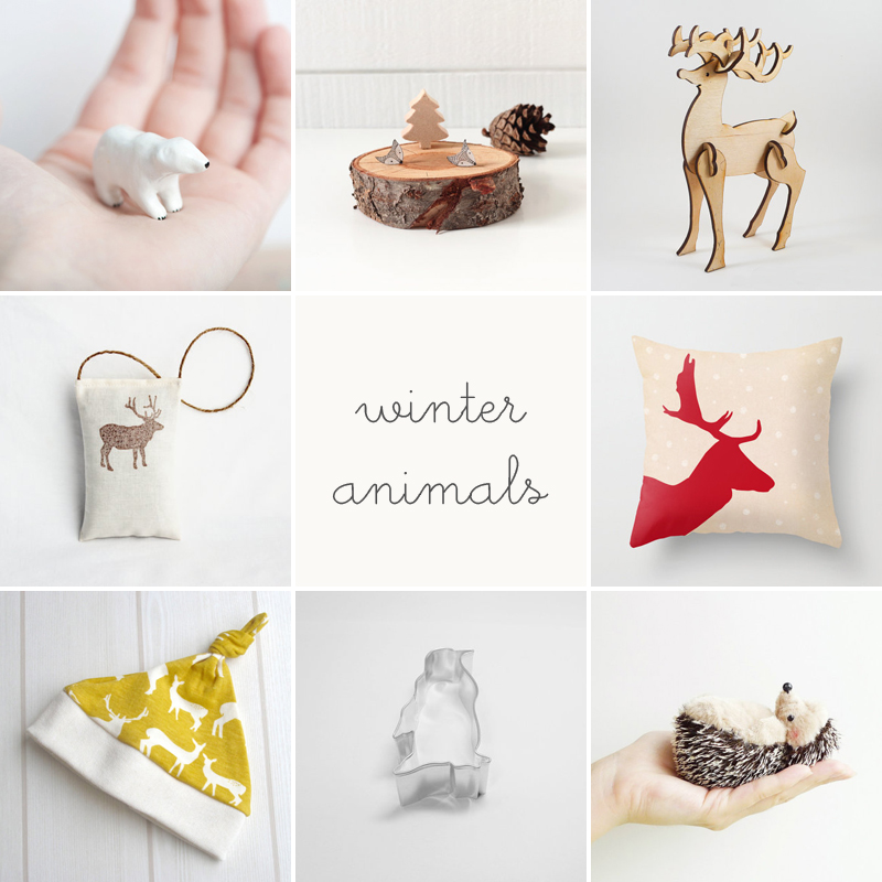 winter animals / etsy finds / via anastasia marie