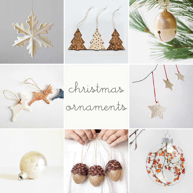 christmas ornaments // etsy finds by anastasia marie