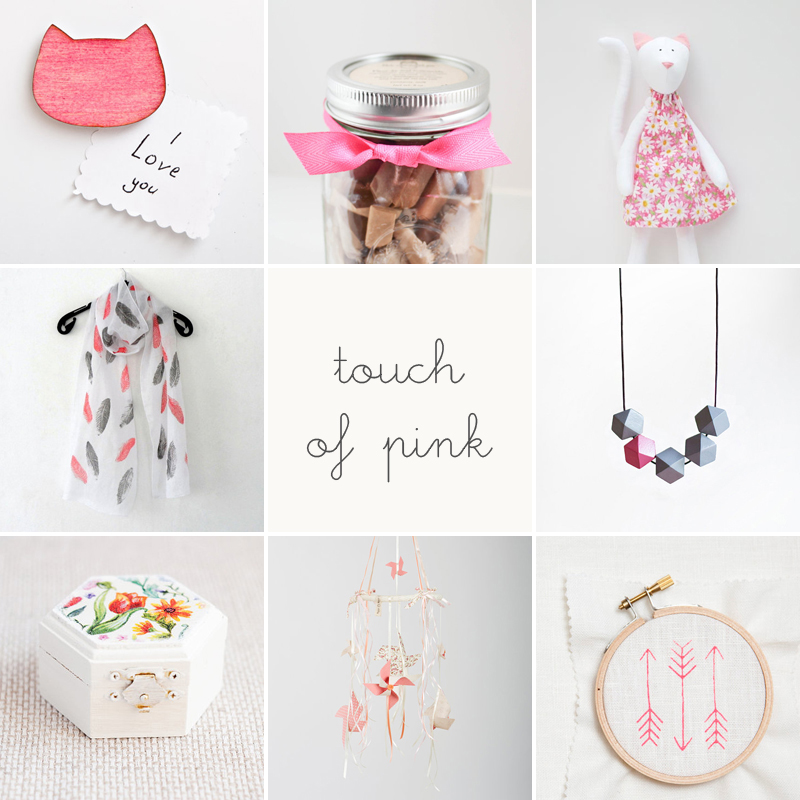 etsy finds // touch of pink