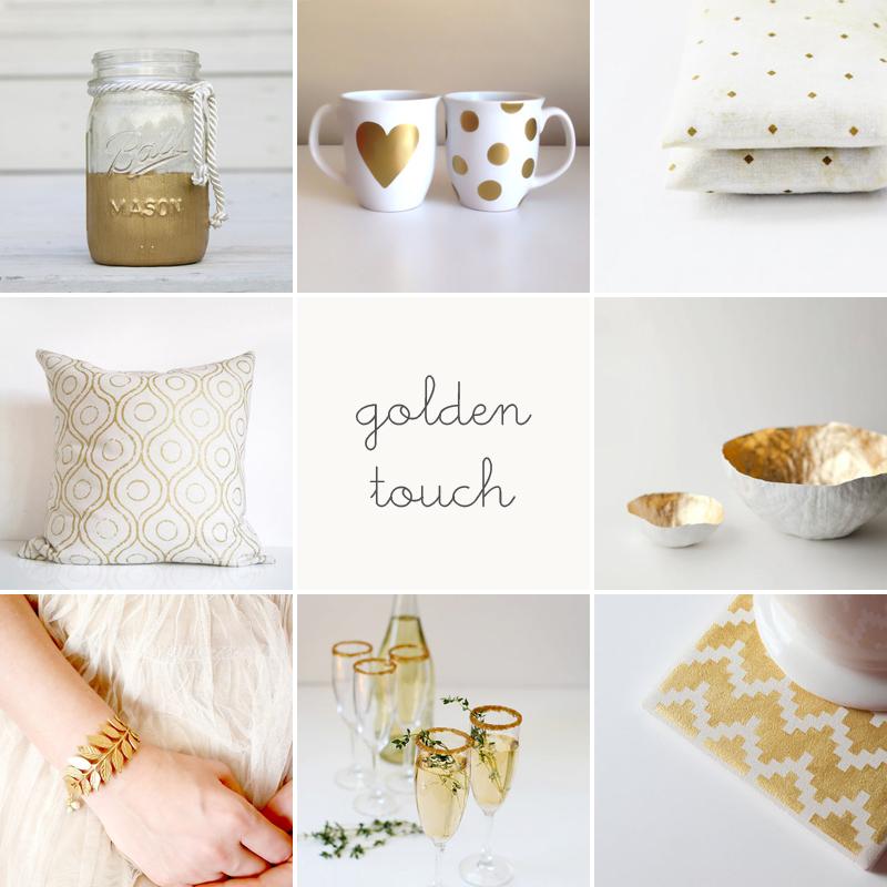 fun finds // golden touch
