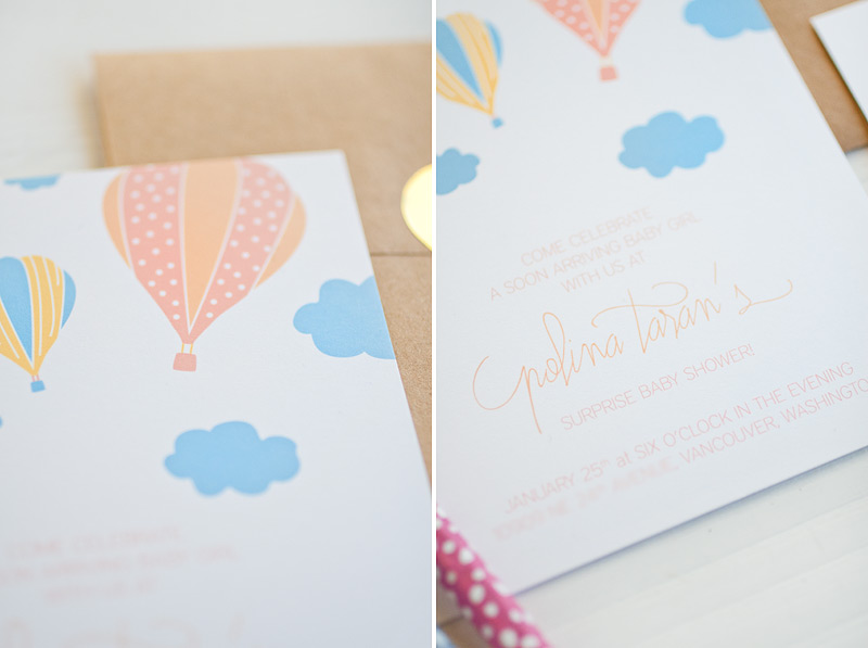 hot air balloons baby shower invitations #anastasiamariecards