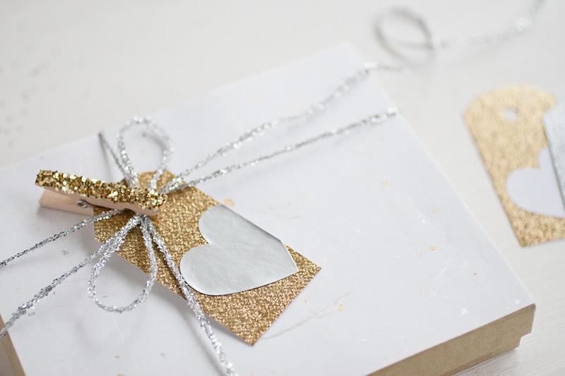 metallic valentine gift wrap #anastasiamariecards