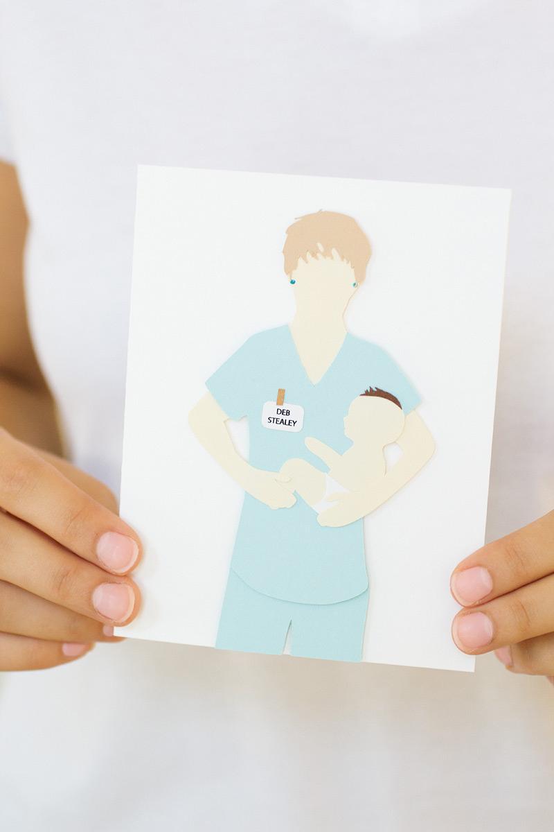 custom card by anastasia marie // midwife
