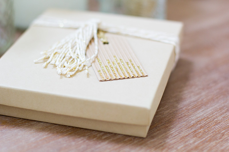 gold tassel gift wrap // anastasia marie