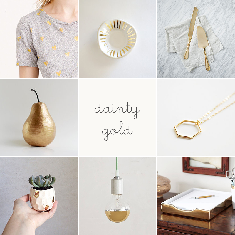 dainty gold finds