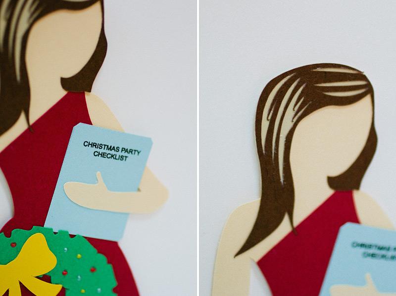 custom christmas card by Anastasia Marie