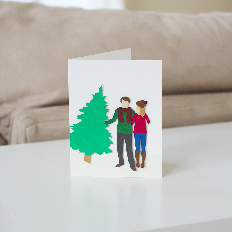 custom card / tree shopping / by anastasia marie