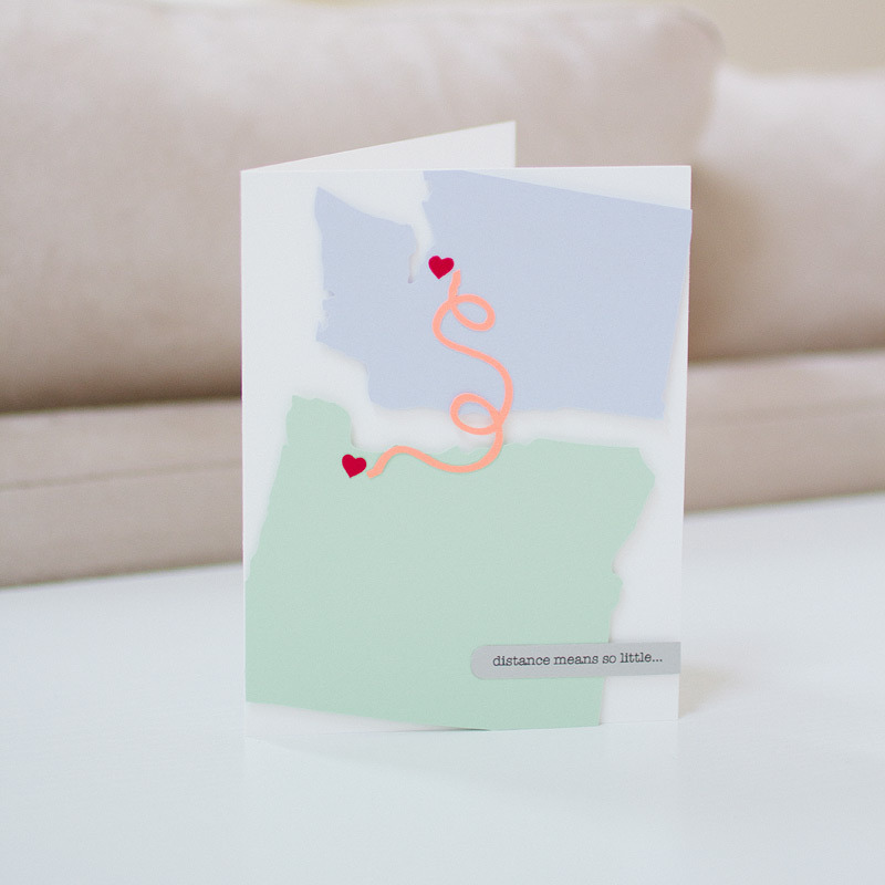 custom card // distance // by anastasia marie