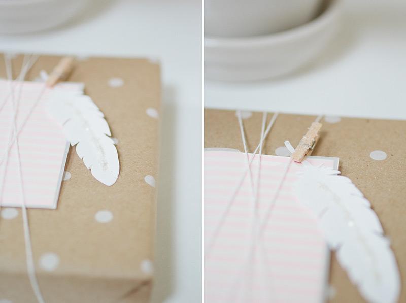 gift wrap: polka feather // anastasia marie