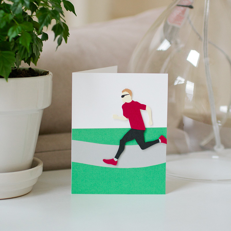 custom card: marathon runner by ANASTASIA MARIE