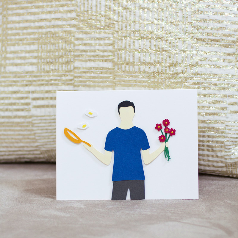 perfect husband // custom paper-layered card by ANASTASIA MARIE