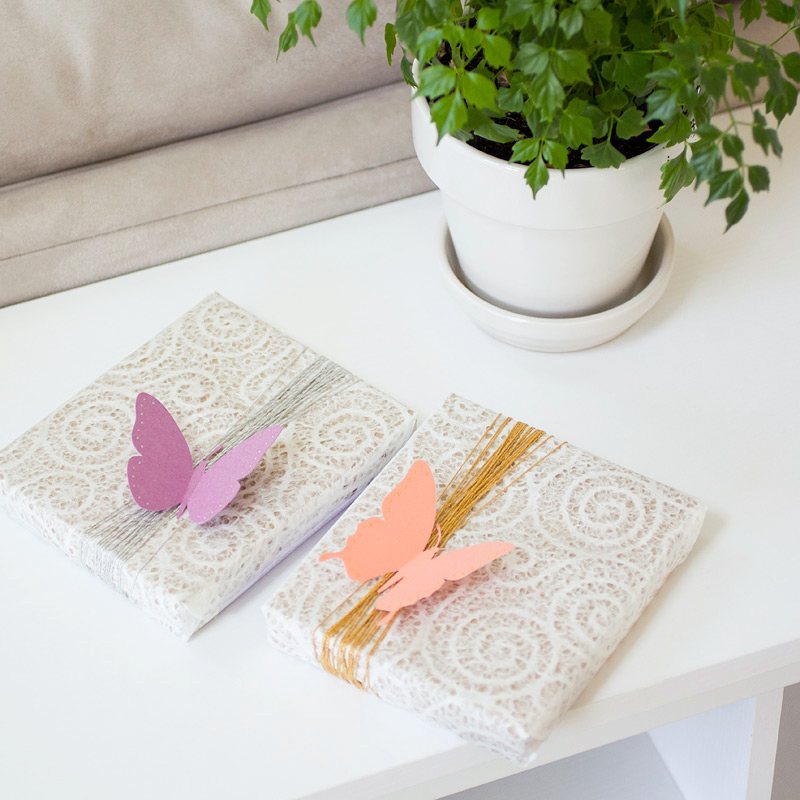 butterfly gift wrap // by ANASTASIA MARIE