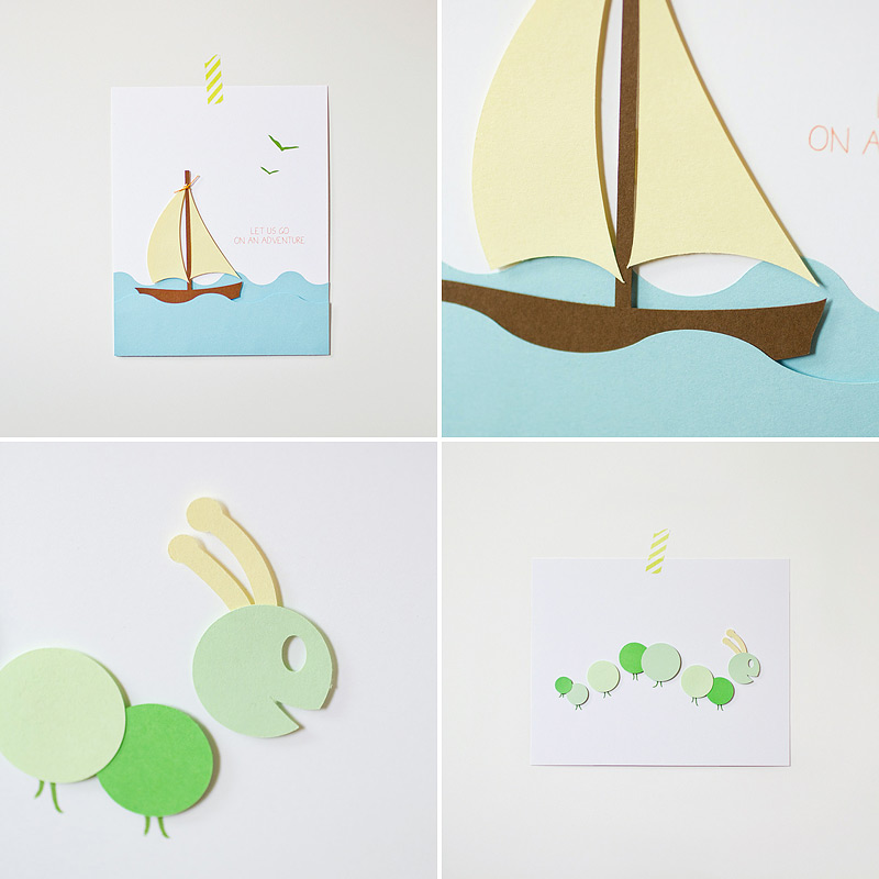 nursery art prints, 3D paper layered via ANASTASIA MARIE