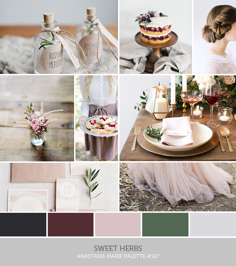 sweet herbs inspiration palette // ANASTASIA MARIE