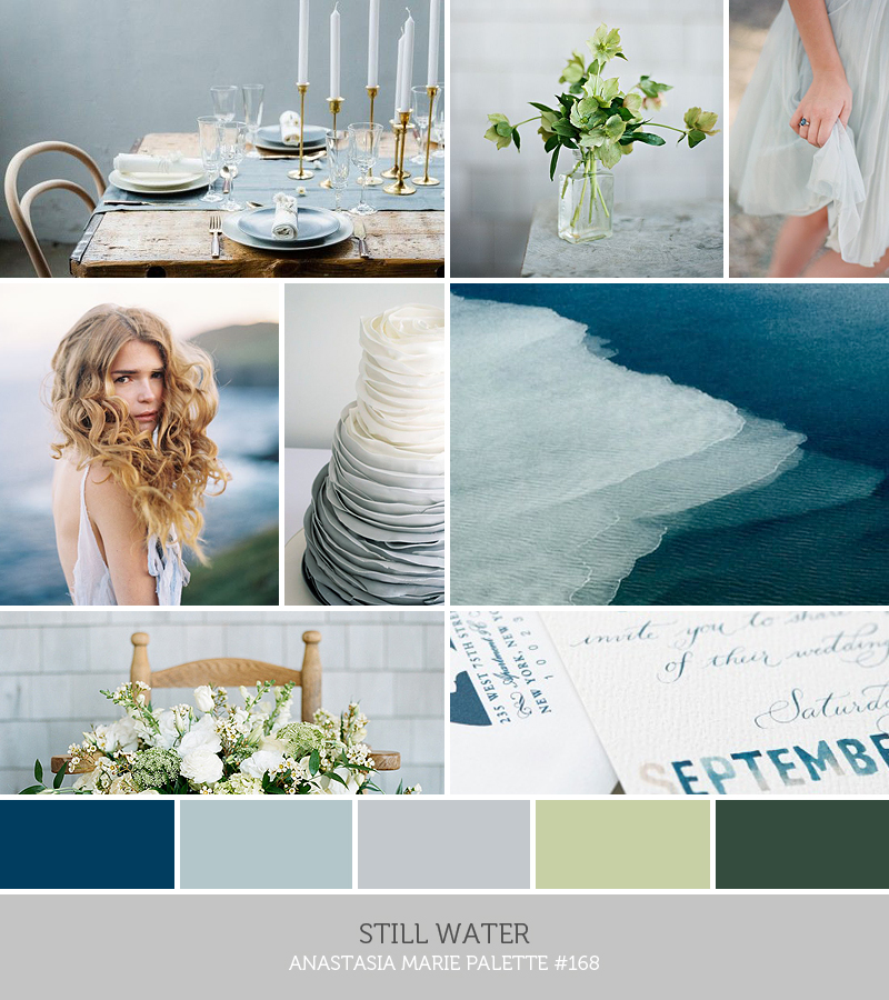 STILL WATER inspiration palette by ANASTASIA MARIE