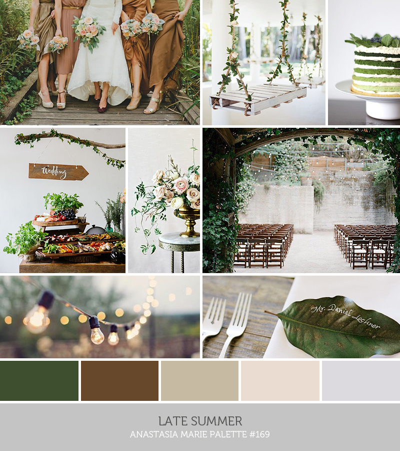 late summer // inspiration palette by ANASTASIA MARIE
