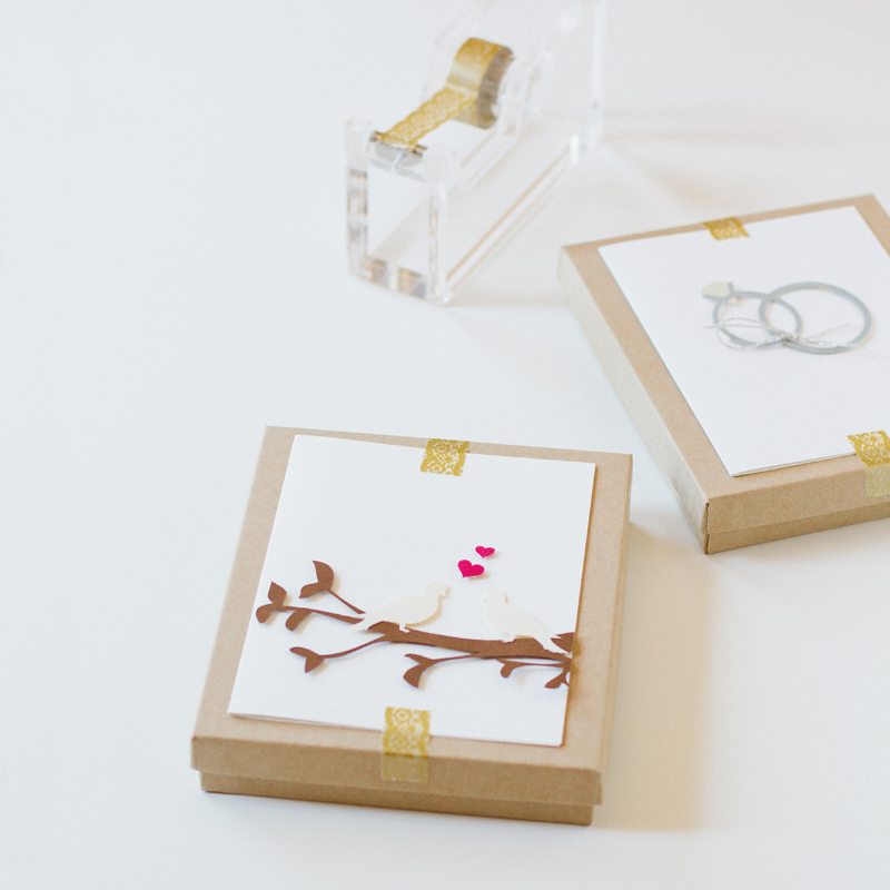 place a pretty card atop a kraft box and you're got yourself a wrapped gift