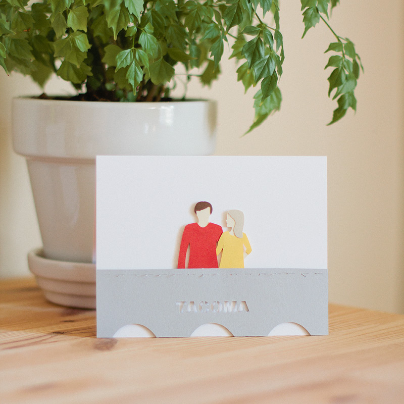 custom card: bridge in tacoma // by ANASTASIA MARIE