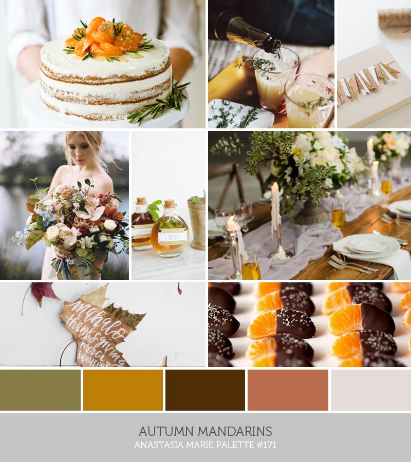 autumn mandarins // an anastasia marie palette