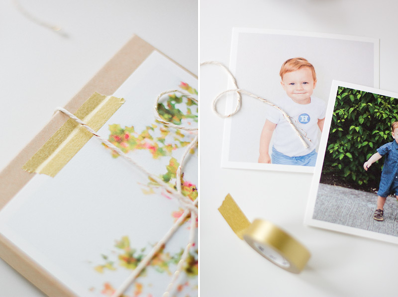 printed photo gift wrap via ANASTASIA MARIE
