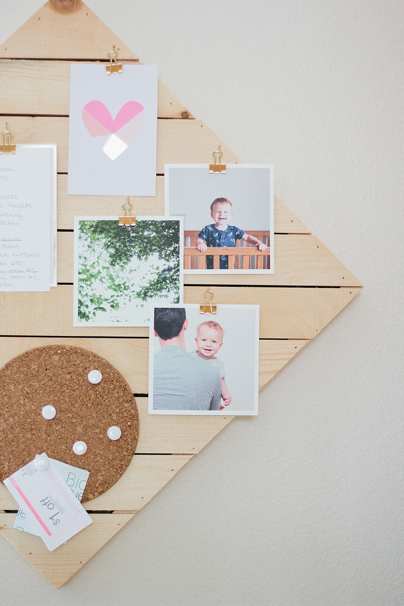 DIY kitchen memo board // anastasia marie