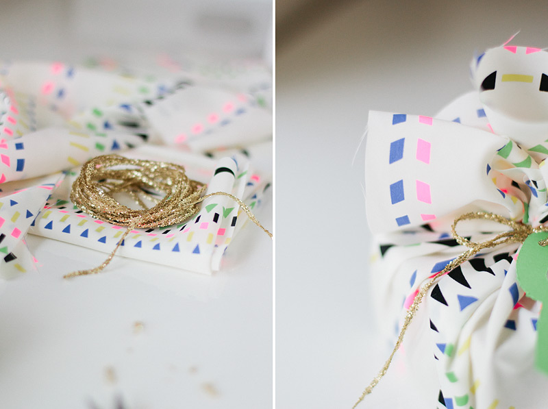 fabric gift wrap // desert cactus // via Anastasia Marie