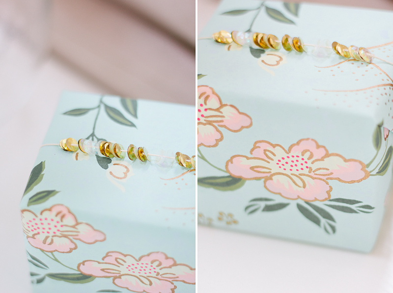 gift wrap: simple sequins // by ANASTASIA MARIE