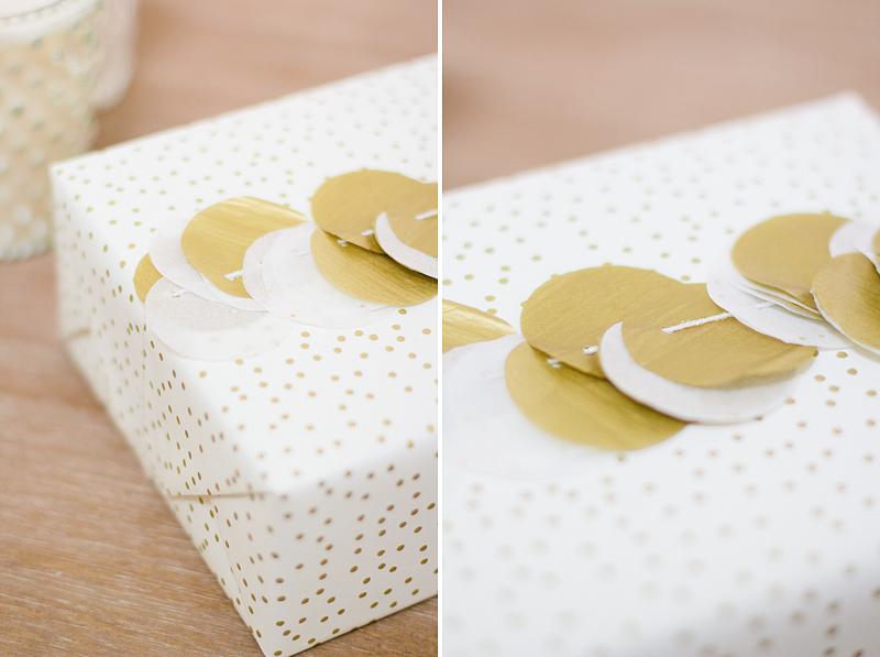 tissue confetti gift wrap // by anastasia marie