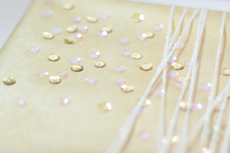 gift wrap: cascading sequins // ANASTASIA MARIE
