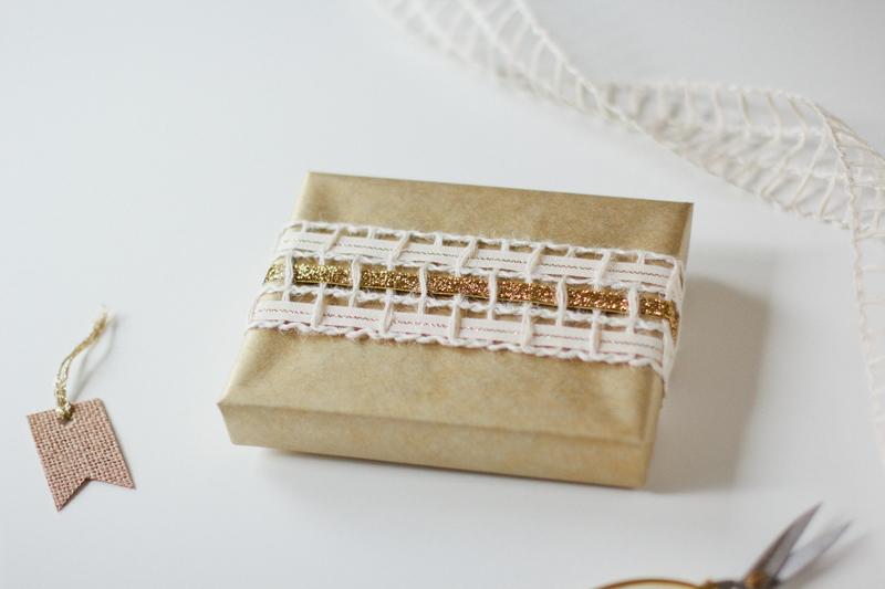 woven glitter gold gift wrap // ANASTASIA MARIE
